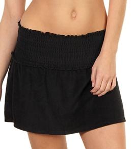 Ralph Lauren Terry Smocked Waist Skirt