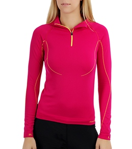 Falke Women's Turtleneck Running Shirt with Zip
