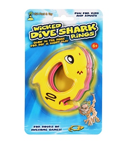 USA Pool & Toy Glow In The Dark Wicked Dive Shark Rings