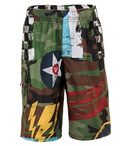 Quiksilver Boys' Flying Fortress Volley Shorts (8-20)