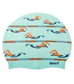 Sporti Long Course Silicone Swim Cap