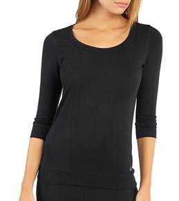 Alo Women's 3/4 Sleeve Deep Scoop Neck Yoga Top