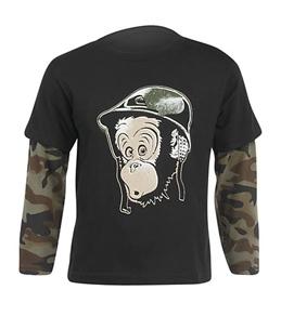 Quiksilver Kids' SGT Simian L/S 2FER T-Shirt (2T-7X)