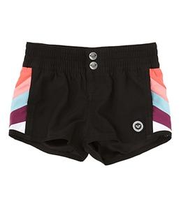 Roxy Teenie Wahine Rustic Sunshine Line Up Board Shorts (4T-6)