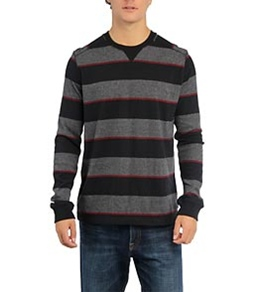 Quiksilver Men's Snit Stripe L/S T-Shirt