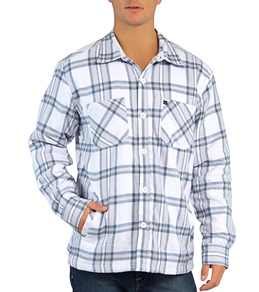 Quiksilver Men's Wind Sweep Sherpa Lined L/S Flannel Button Up Shirt