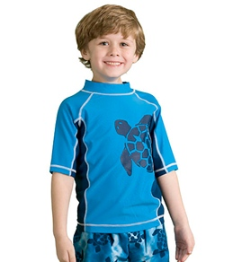 Cabana Life Boys' Deep Blue Sea Turtle Rash Guard Set (3mos-6X)