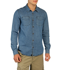 Rusty Men's East Village Denim L/S Shirt