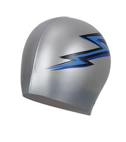 Dolfin Silicone Blue Lightning Bolt Cap