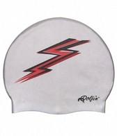 Dolfin Silicone Red Lightning Bolt Swim Cap
