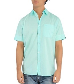 Lost Men's Sunwashed Solid Woven S/S Shirt