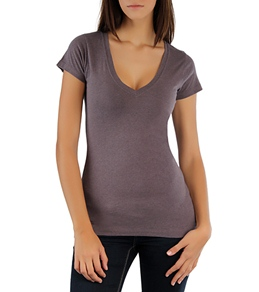 Hurley Women's Solid Perfect V Heathered Tee