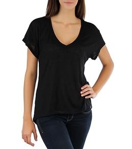 Hurley Women's Solid Drapy Rib V Shirt