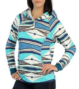 Hurley Women's Nightfall Sherpa Pullover Hoodie