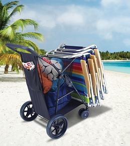 Rio Brands Wonder Wheeler Plus Beach Cart