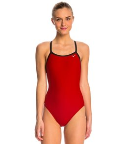 Nike Swim Nylon Core Solids Lingerie Tank Fast Back Swimsuit