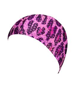 The Finals Funkies Pink Leopard Swim Cap