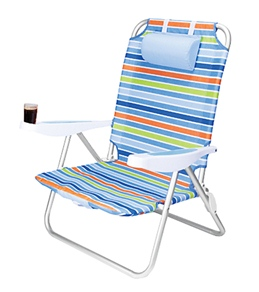Picnic Time Stripe Serenity Lounge Chair