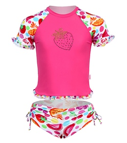 Seafolly Girls' Very Berry S/S Rashguard Set (6mos-7yrs)
