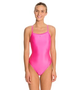 Speedo Solid Logo Flyback Swimsuit