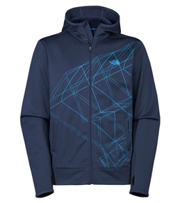 The North Face Men's Surgent Full Zip Printed Running Hoodie