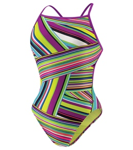 Speedo Flipturn Rainbow Stripe Extreme Back