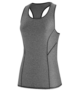 Speedo Heathered Tank Rashguard with Zip Pocket