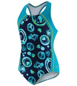 Speedo Girls' Peace Tie Dye 1pc Sport Splice