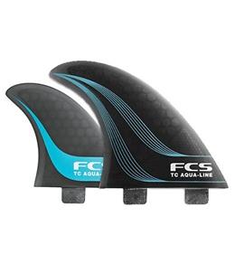 FCS TC Aqua-Line Smoke Quad Fin Set - Medium