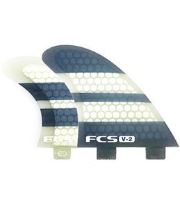 FCS Kelly Slater V-2 PC Tri-Quad Fin Set - Medium