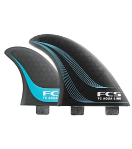 FCS TC Aqua-Line Smoke Tri-Quad Fin Set