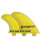 FCS SF4 Stretch PC Tri-Quad Surfboard Fin Set - Large