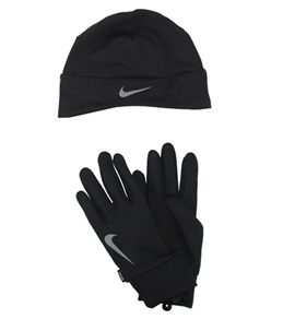 Nike Men's Running Dri-Fit Beanie/Glove Set