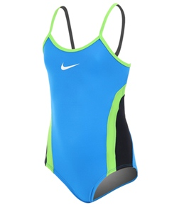 Nike Swim Girls' Colorblock Cut Out Tank 1 PC