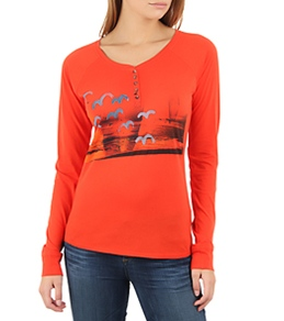 Hurley Women's Birds Fly Henley L/S