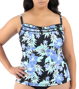 South Point Country Mart Plus Size Pina Colada Tankini Top