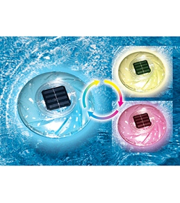 Swimline Color Changing Floating Solar Rainbow Light