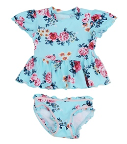 Seafolly Girls' Rococo Rose Rash Guard Set (4-7yrs)
