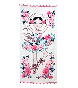 Seafolly Girls' Rococo Rose Towel