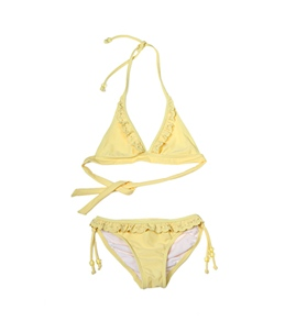 Seafolly Girls' Sassy Sista 70's Halter Bikini Set (6-14yrs)