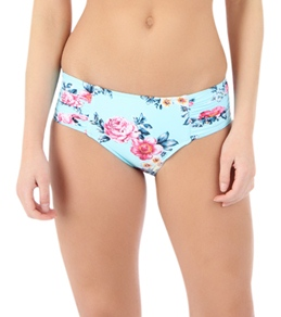 Seafolly Women's Rococo Rose Ruched Side Retro Bottom