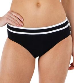 Calvin Klein Women's High Waist Full Classic Bottom with Logo Zipper Pull
