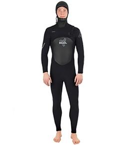 Xcel Men's Drylock 4/3 MM Hooded Front Zip Fullsuit