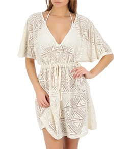 Sunsets White Chocolate Flutter Sleeve Tunic