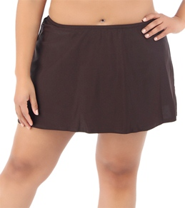 Sunsets Dark Chocolate Plus Size Skirted Bottom