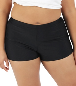 Sunsets Black Plus Size Swim Short