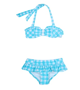Seafolly Girls' Picnic Party Mini Tube Bikini Set (6-14yrs)