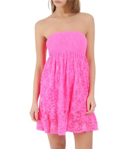 Coco Rave Lucky Lace Smocked Bandeau Dress
