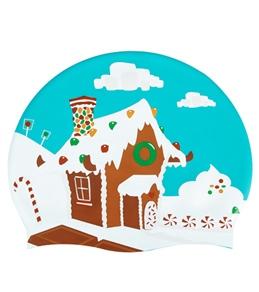 Sporti Gingerbread House Silicone Swim Cap