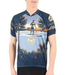 Canari Men's Koko Brown Short Sleeve Cycling Jersey